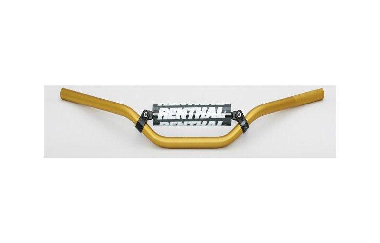 """Τιμόνι RENTHAL Off Road Enduro Low """"22,2mm"""" (Χρυσό) με Pad """"70101GO01185"""""""