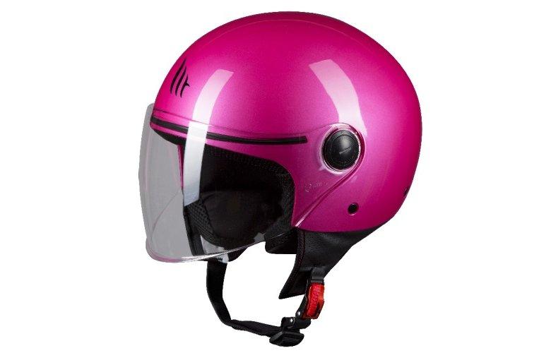 Κράνος MT Street ροζ φούξια gloss