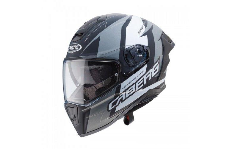 Κράνος Caberg Drift Evo Speedster μαύρο ματ-ανθρακι-άσπρο