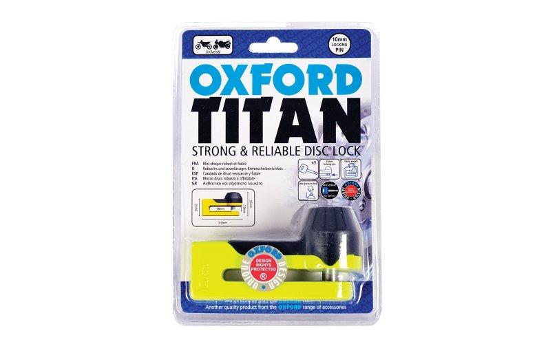 Κλειδαριά δισκοφρένου Oxford Titan yellow