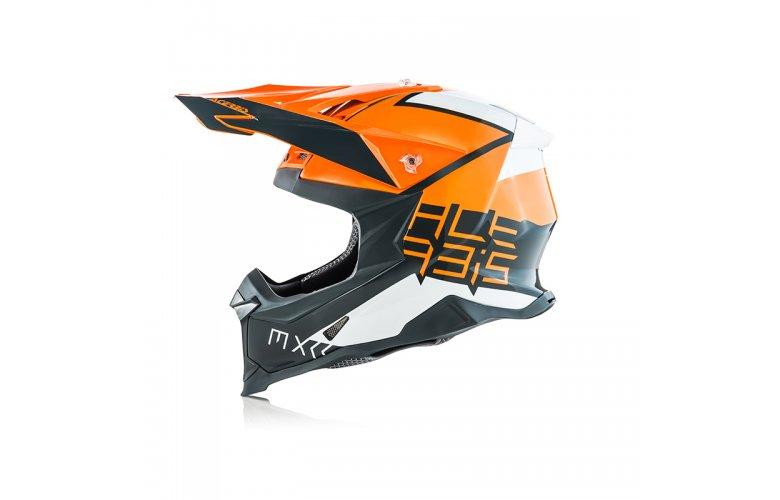 Κράνος Acerbis X-Racer VTR πορτοκαλί-γκρι