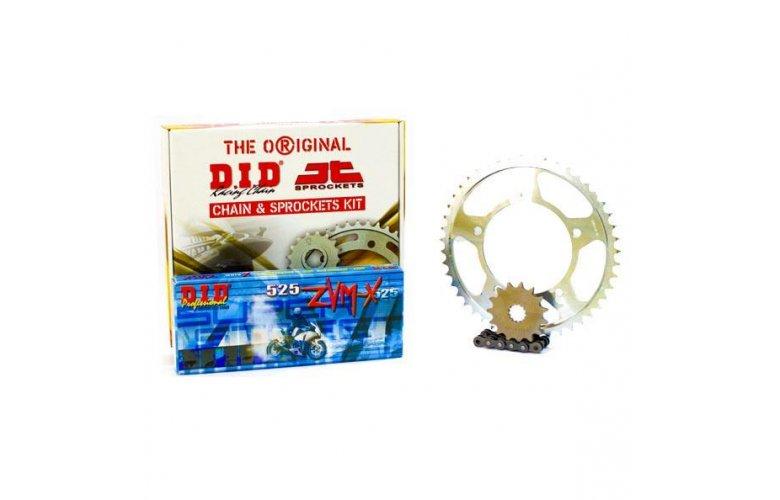 """Σετ Γρανάζια-Αλυσίδα κινήσεως DID-JT για Yamaha TDM 900 '02-'13 """"Μαύρη Αλυσίδα X 'ring (ZVM-X)"""""""
