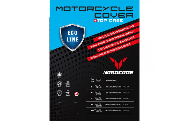 Kάλυμμα μοτό Nordcode Cover moto XXL Eco Line +Top Case