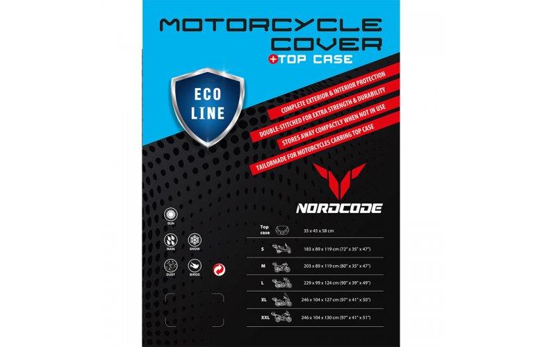 Kάλυμμα μοτό Nordcode Cover moto XL Eco Line +Top Case