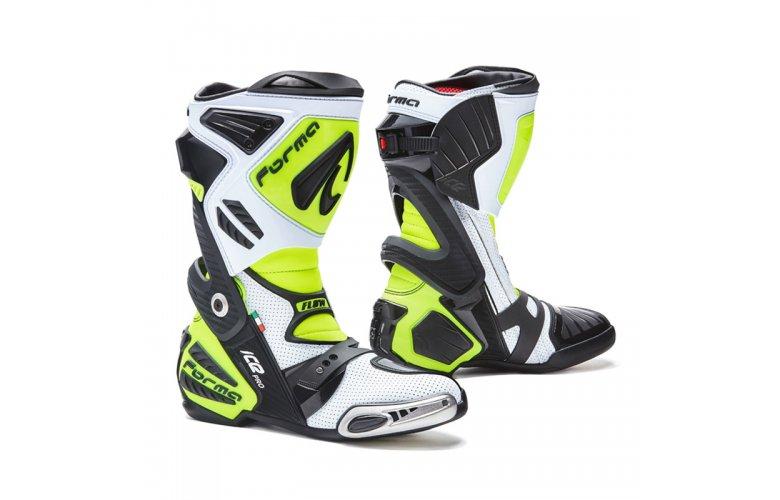 Μπότες Racing Forma Ice Pro Flow White/Black/Fluo Yellow
