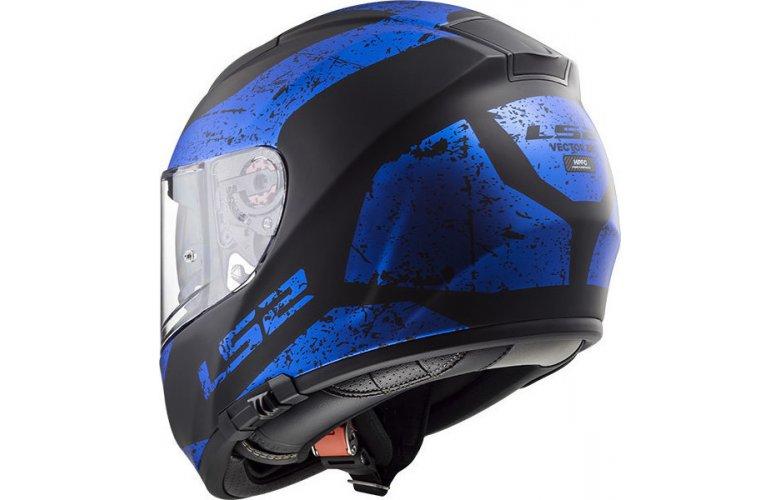 Κράνος LS2 FF397 Vector Sign Μπλε / Μαύρο Ματ