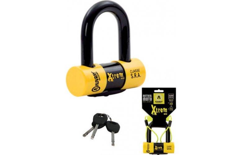 Κλειδαριά δισκόφρενου Auvray Xtrem Mini Yellow / Black
