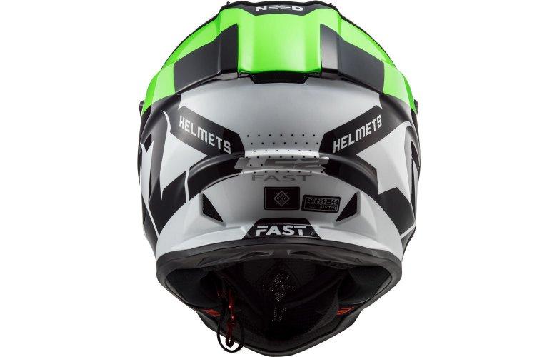 ΚΡΑΝΟΣ LS2 FAST MX437 BLOCK BLACK / GREEN