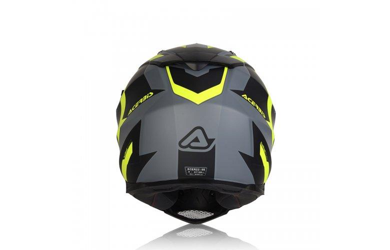 ΚΡΑΝΟΣ ACERBIS FLIP FS-606 μαύρο/γκρι/κιτρινο
