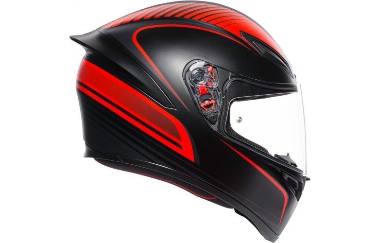 ΚΡΑΝΟΣ AGV K1 Warmup BLACK RED Μαύρο Κόκκινο