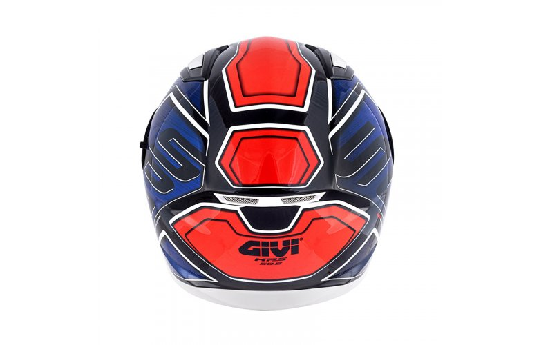 Κράνος Givi H50.6 Sport Deep Blue/Red + Ζελατίνα Iridium