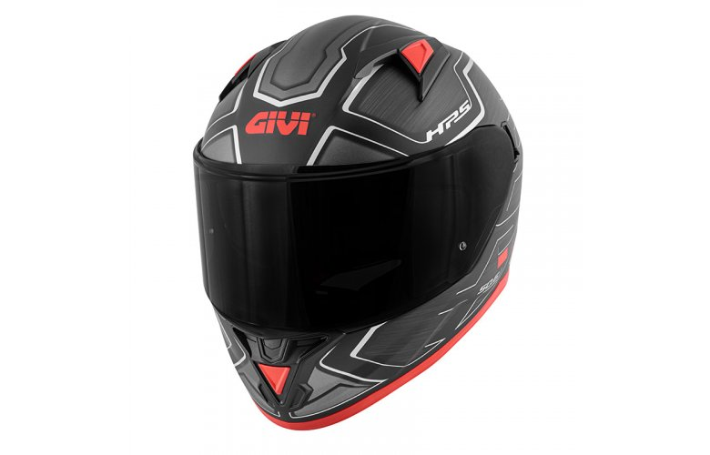 Κράνος Givi H50.6 Sport Deep Mat Black/Red + Ζελατίνα Φυμέ