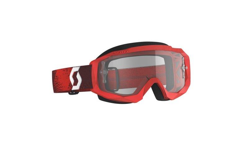 ΜΑΣΚΑ SCOTT HUSTLE X MX RED/RED/CLEAR WORKS