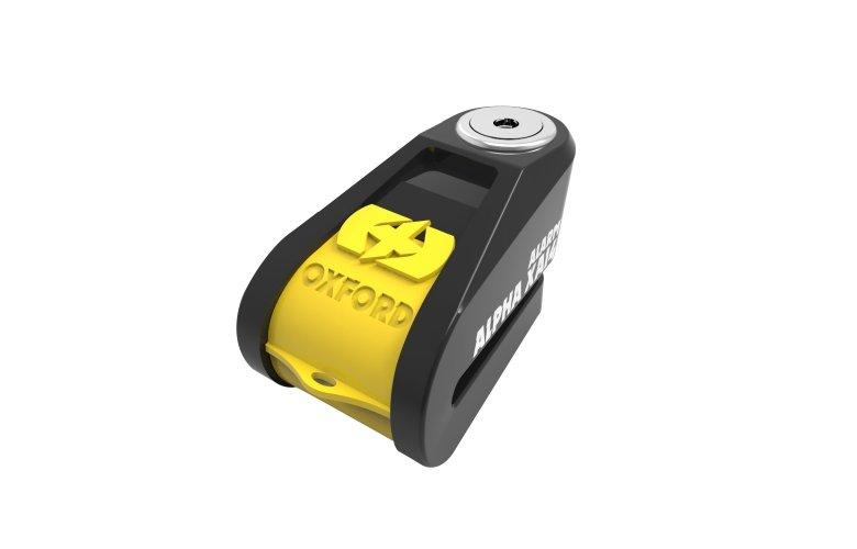 Κλειδαριά δισκοφρένου με συναγερμό Oxford Alpha XA14 (14mm pin) Black/Yellow
