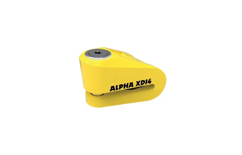 Κλειδαριά δισκοφρένου Oxford Alpha XD14 (14mm pin) Yellow
