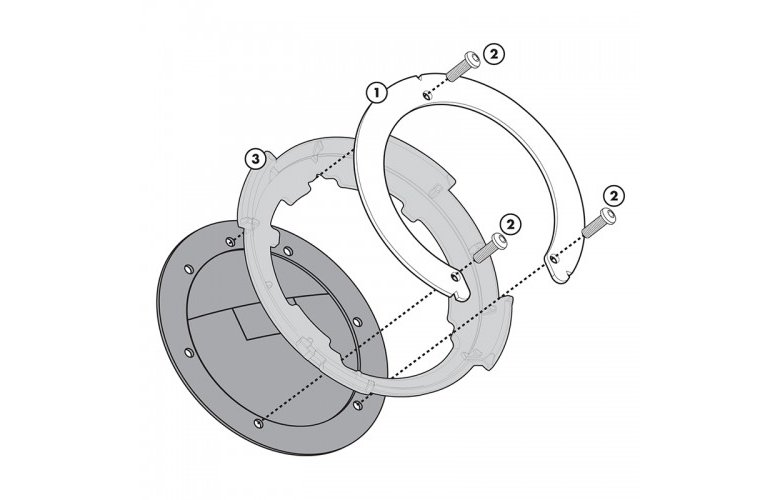 BF03 Σύστημα κλειδώματος σάκου στο ρεζερβουάρ GIVI