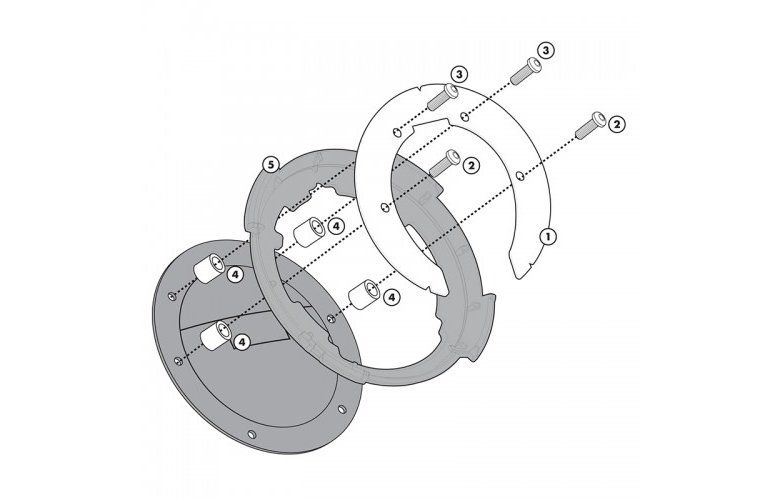 BF10 Σύστημα κλειδώματος σάκου στο ρεζερβουάρ GIVI