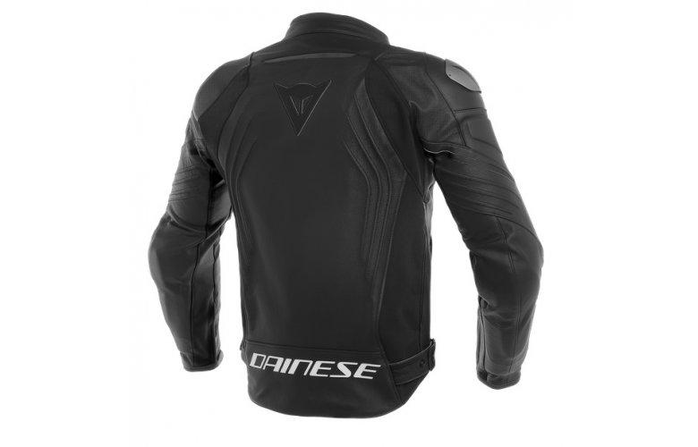 ΔΕΡΜΑΤΙΝΟ Μπουφάν Dainese Racing 3 Perforated BLACK / BLACK / BLACK Μαύρο