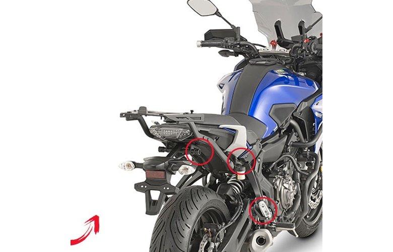 Βάσεις πλαϊνών βαλιτσών V35 PLXR2130_MT-07'16 TRACER Yamaha GIVI