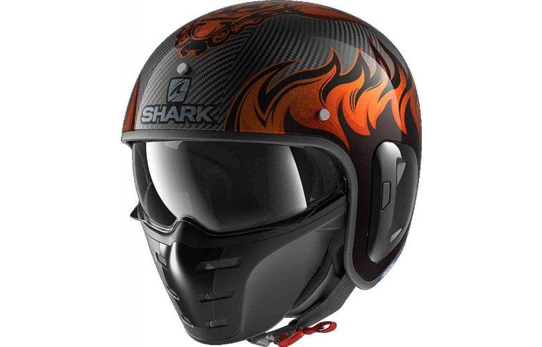 SHARK S-DRAK 2 Κράνος Carbon Dargon Doo Orange / Orange