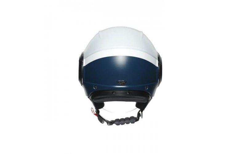 ΚΡΑΝΟΣ AGV JET ORBYT E2205 MULTI - BLOCK MATT LIGHT GREY / EBONY / WHITE
