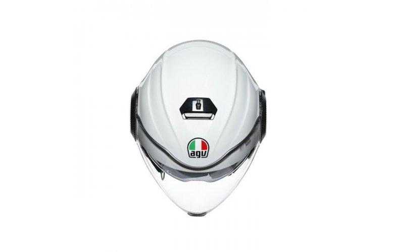 ΚΡΑΝΟΣ AGV JET ORBYT E2205 MULTI - BLOCK PEARL WHITE/EBONY/RED FLUO