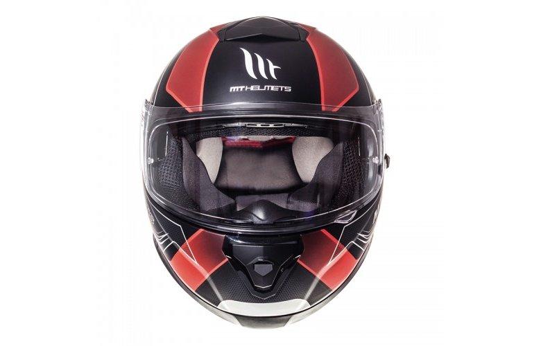 Κράνος MT Thunder 3 SV Trace ματ μαύρο-κόκκινο
