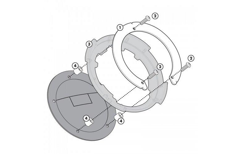 BF20 Σύστημα κλειδώματος σάκου στο ρεζερβουάρ GIVI για CB 500F