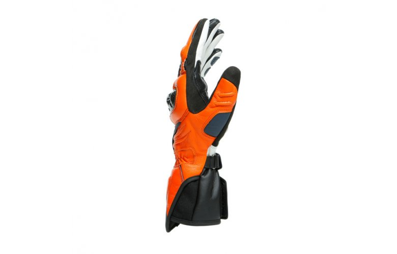 DAINESE Racing Γάντια Long Carbon 3 Black-Iris / Flame-Orange / Fluo-Red