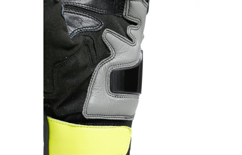 DAINESE Racing Γάντια Carbon 3 Short Black / Charcoal Gray / Fluo Yellow