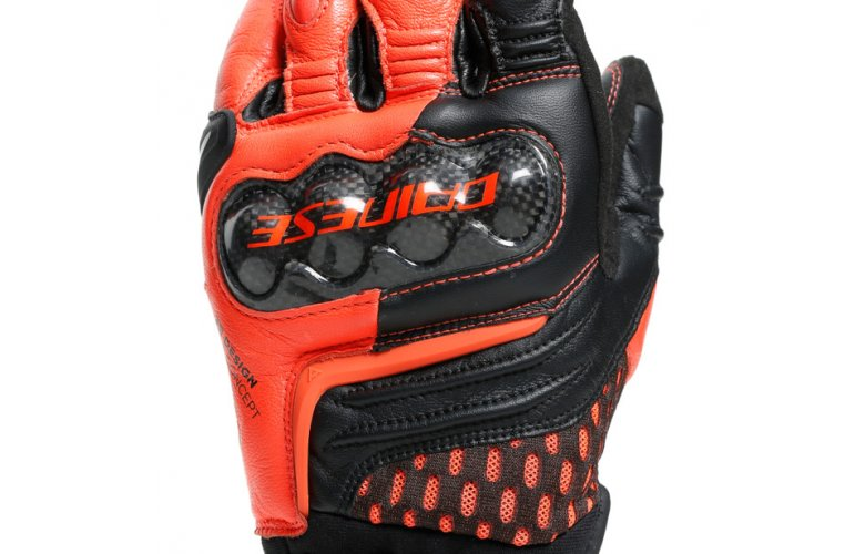 DAINESE Racing Γάντια Carbon 3 Short Black / Fluo Red