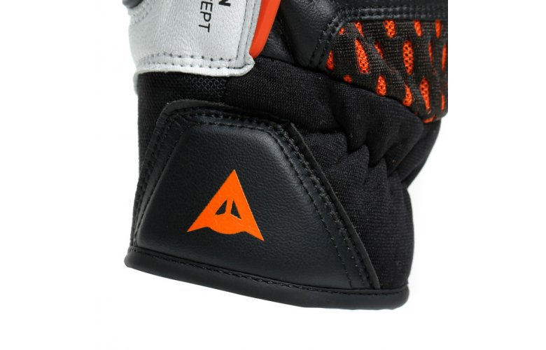 DAINESE Racing Γάντια Carbon 3 Short Black / White / Flame - Orange