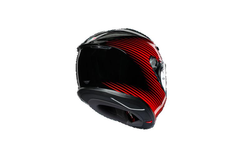 Κρανος AGV K6 E2205 MULTI - RUSH BLACK/RED