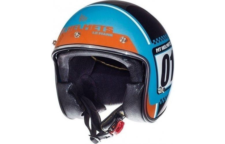 Κράνος MT Le Mans SV Numberplate Τιρκουάζ / Fluo πορτοκαλί
