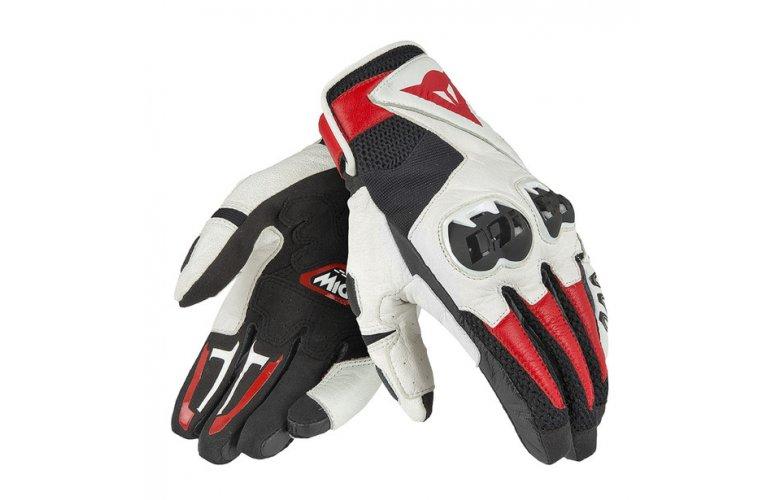 Dainese Γάντια MIG C2 Black / White / Lava Red