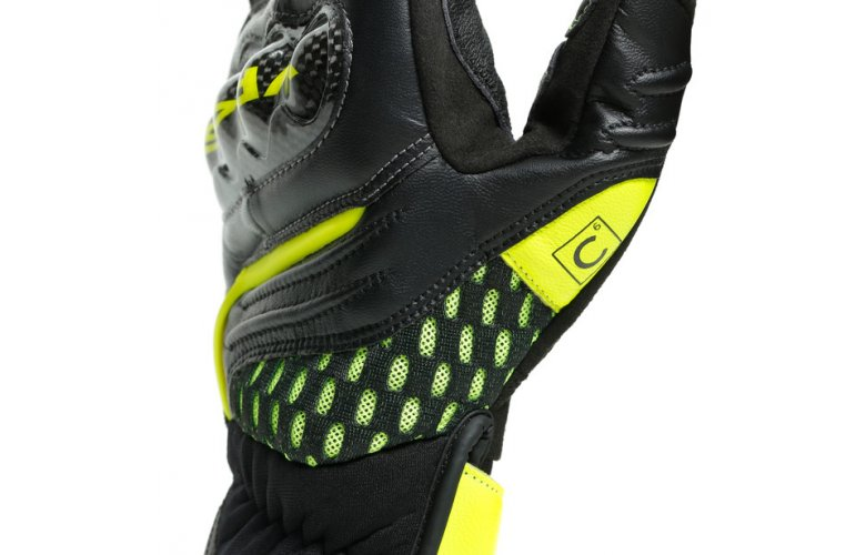 DAINESE Δερμάτινα Γάντια VR46 Sector Short Black / Anthracite / Fluo Yellow