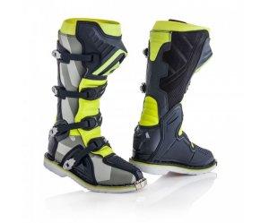 Μπότες Acerbis X-PRO V γκρί-fluo κίτρινο Vibram® σόλα