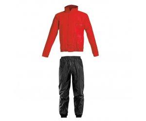 Αδιάβροχο σέτ Acerbis Rain Suit Logo Κοκκινο-Μαυρο
