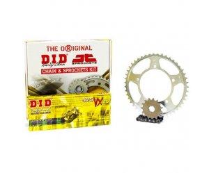 """Σετ Γρανάζια-Αλυσίδα κινήσεως DID-JT για Honda CBF 600 '04-'07 """"Μαύρη Αλυσίδα X 'ring (VX)"""""""