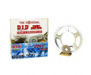 """Σετ Γρανάζια-Αλυσίδα κινήσεως DID-JT για Kawasaki Z 750 '04-'12 """"Χρυσή Αλυσίδα X 'ring (ZVM-X G&G)"""""""
