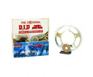 """Σετ Γρανάζια-Αλυσίδα κινήσεως DID-JT για Yamaha TDM 900 '02-'13 """"Μαύρη Αλυσίδα X 'ring (ZVM-X)"""" (16-42-525ZVM-X)"""