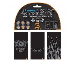Μπαντάνες Oxford Comfy Comfy HD Graphics σετ 3 τεμ