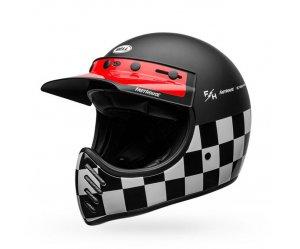 Κράνος Bell Moto 3 Fasthouse Checkers matt/gloss μαύρο/άσπρο/κόκκινο