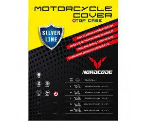 Kάλυμμα μοτό Nordcode Cover moto XXL Silver Line+Top Case