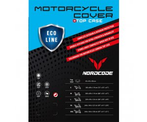 Kάλυμμα μοτό Nordcode Cover moto M Eco Line +Top Case