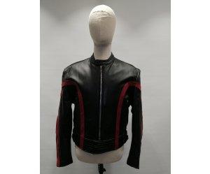 Μπουφάν Δερμάτινο Lewis Leather Roadfarer Μαύρο-Κόκκινο