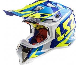 ΚΡΑΝΟΣ LS2 SUBVERTER MX470 NIMBLE WHITE / BLUE / H-V YELLOW