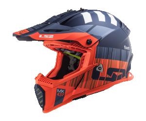 Κράνος LS2 MX437 Fast Evo X Code Matt Fluo Orange/Blue