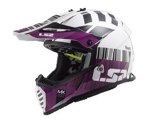 Κράνος LS2 MX437 Fast Evo X Code White/Violet