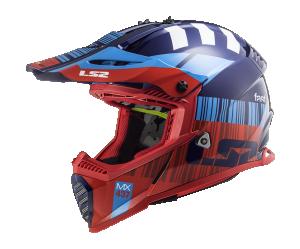 Κράνος LS2 MX437 Fast Evo X Code Red/Blue